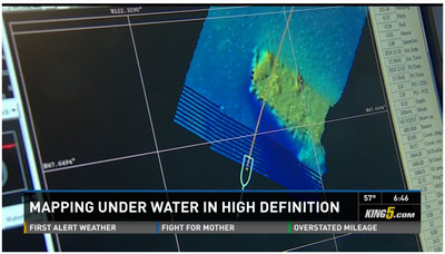 Undergrads use modern sonar tools to uncover Lake Union shipwrecks