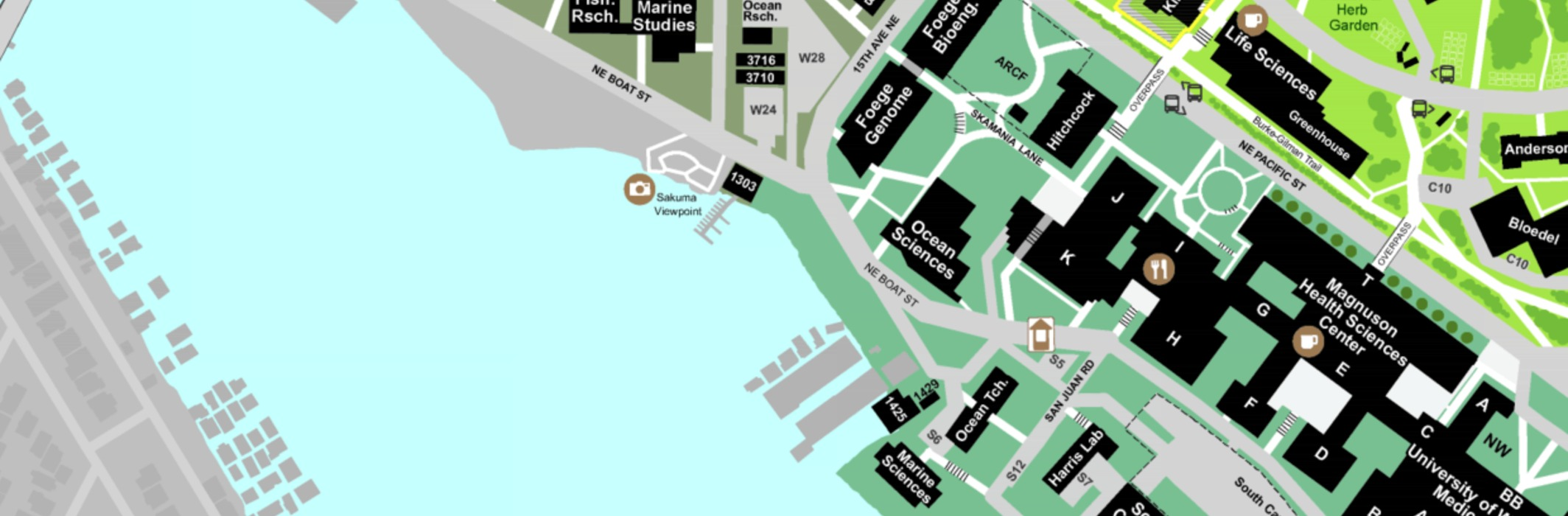 UW Campus Map Image